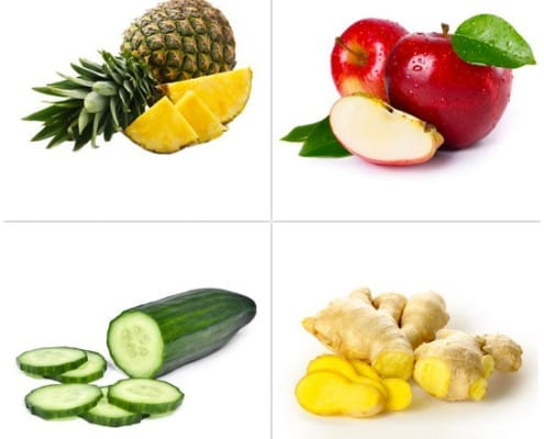 ananas - mela - cetriolo - zenzero