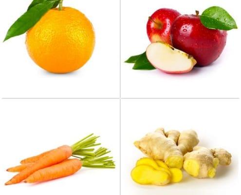 arancia - mela - carota - zenzero