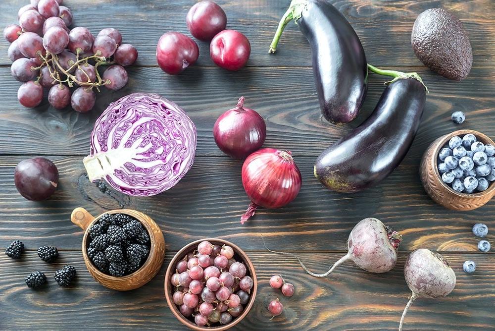 Mangiare a colori con la verdura e la frutta