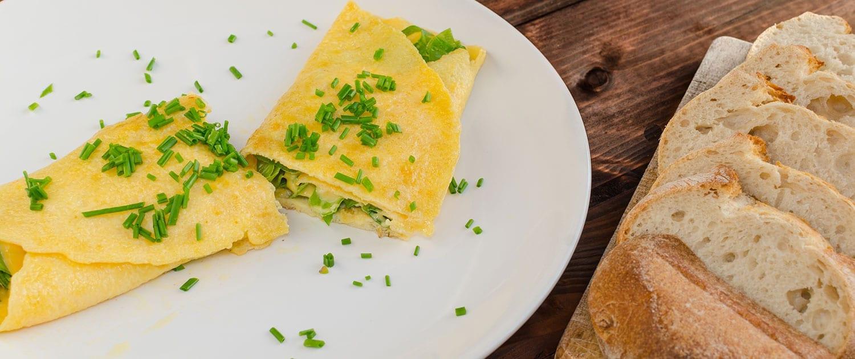 Frittata Tarassaco Erba cipollina in modalità Omelette